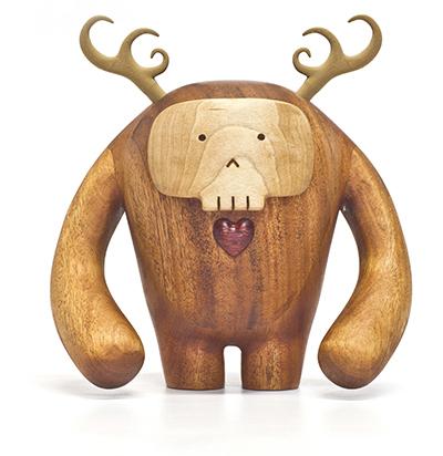 custom wood design los hermanos calavera front