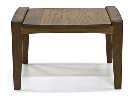 handcrafted wooden ottoman