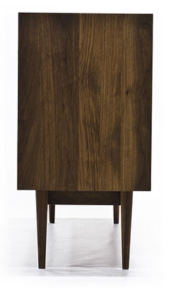 console and solid walnut cabinet