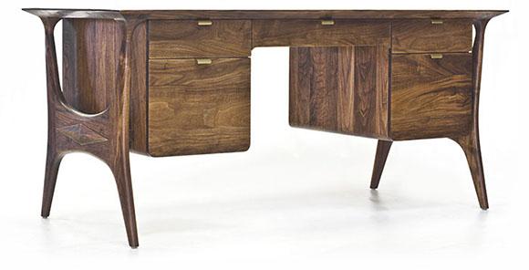 walnut wood desk