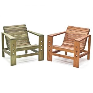 mahogany outdoor chair