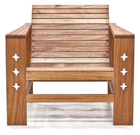 mahogany outdoor chair front