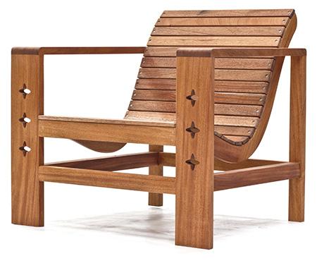mahogany outdoor chair