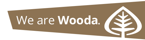 we are wood logo